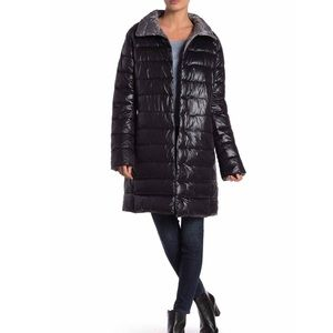 Kenneth Cole Quilted Funnel Collar Coat. Size - S